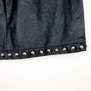 Forever 21 Skirts - Forever 21 Black Faux Leather Studded Skirt